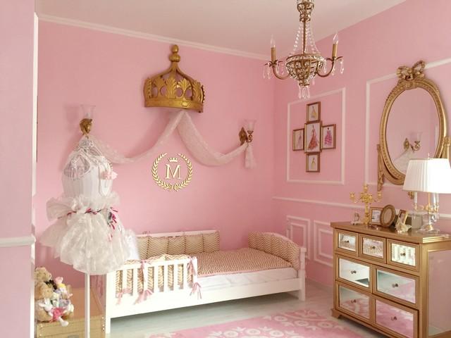 Pink And Gold Classic Parisian Nursery Viktorianisch Babyzimmer