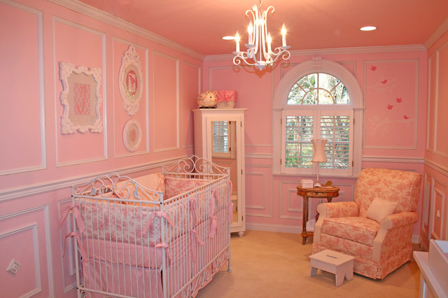 Pink Toile Nursery Traditional