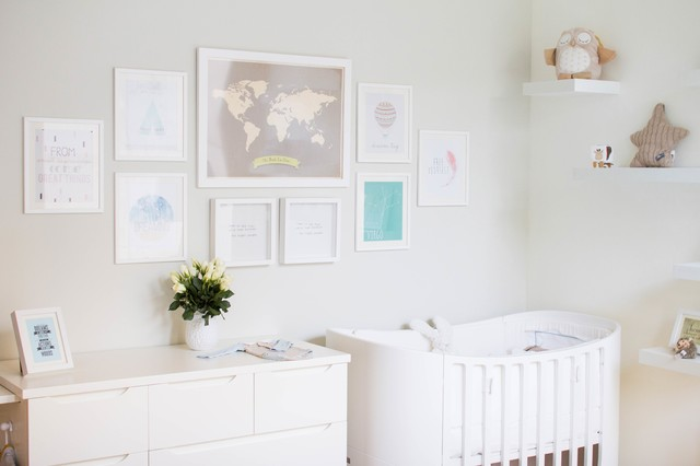 poster wall gallery gender neutral nursery modern babyzimmer other metro von md. Black Bedroom Furniture Sets. Home Design Ideas