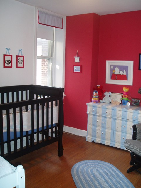 Red Nursery contemporary kids