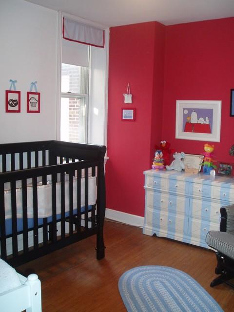 Red Nursery contemporary-nursery