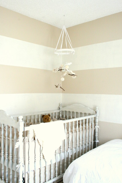 Elegant Shades Of White Baby Room Traditional Nursery