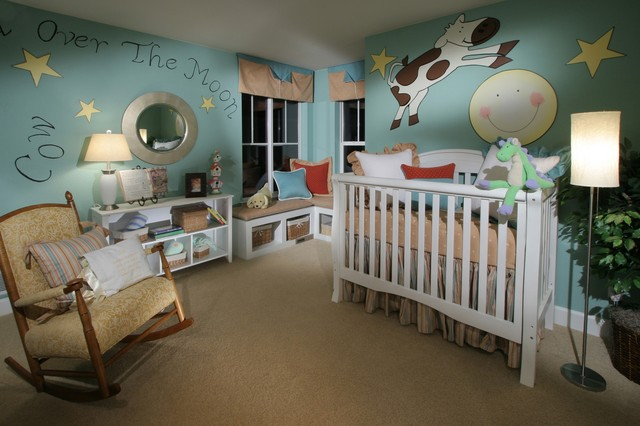 Shryne Design Projects eclectic-nursery