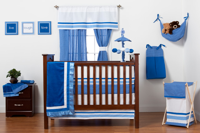 simplicity blue baby bedroom contemporary nursery