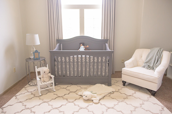 Camerette Neonati Shabby Chic : Soft neutral nursery blackout curtains shabby chic style