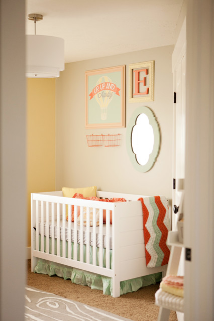 Soft Pastels Baby Girl Nursery - Eclectic - Nursery - salt lake city - by Design Loves Detail