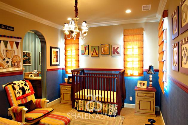 Sports nursery contemporary nursery orange county for Boys room sports decor