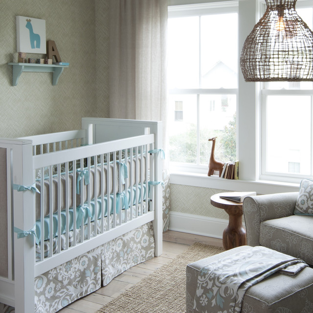 Taupe Suzani Crib Bedding Collection by Carousel Designs transitional-nursery