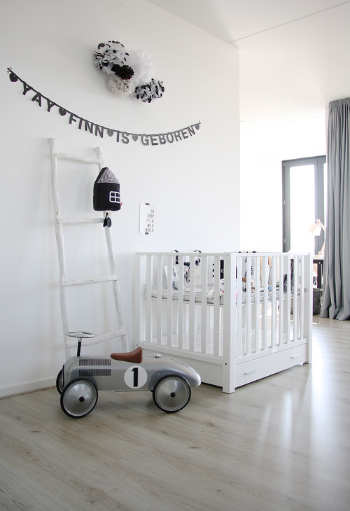 How to make black and white kids zones fun Scandinavian baby nursery