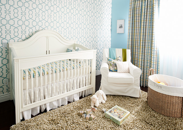 Transitional home traditional-nursery