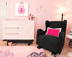 Pink and Black Parisian Girl's Nursery traditional-kids