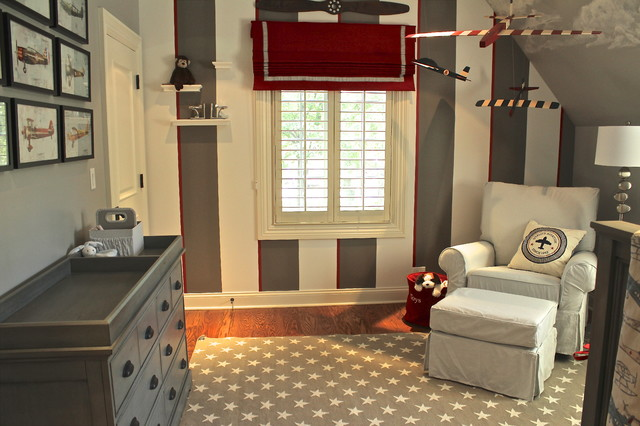 Tudor with southern flair for Boys airplane bedroom ideas