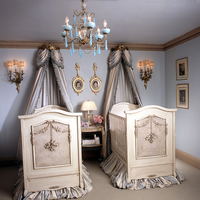 Twin Cherubini Room Victorian Nursery Los Angeles By AFK Magnificent Baby Furniture Ideas