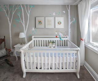 Unisex Nursery With Custom Renovation Finishing And Painting