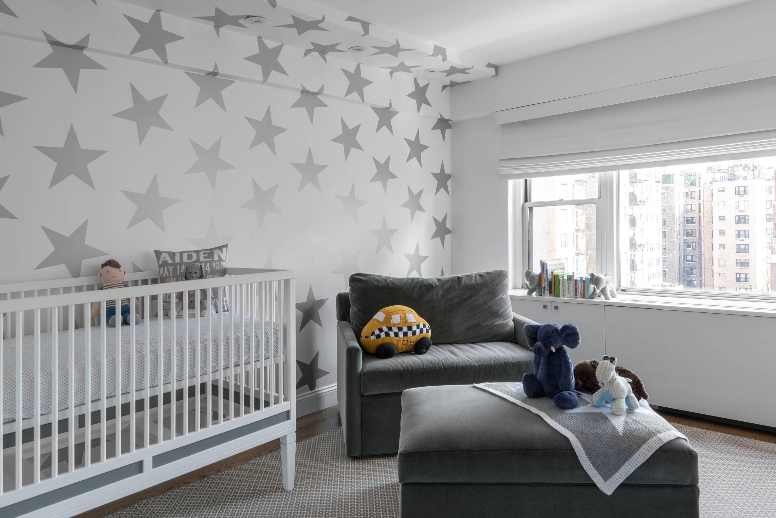 Grey And White Nursery Houzz