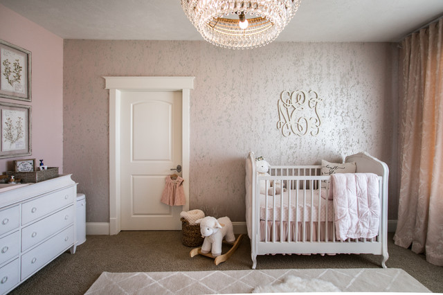 Vintage Glam Nursery Transitional