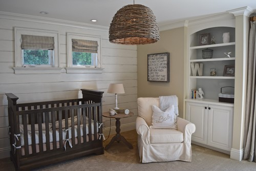 Wood Paneling Natural Hues And Simple Pieces Come Together To Make This Gender Neutral Nursery A Relaxing Space For Growing Babies Or Sleepy Parents
