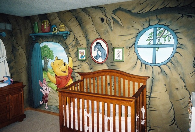 Winnie The Pooh Murals In A Nursery By Tom Taylor Of Mural