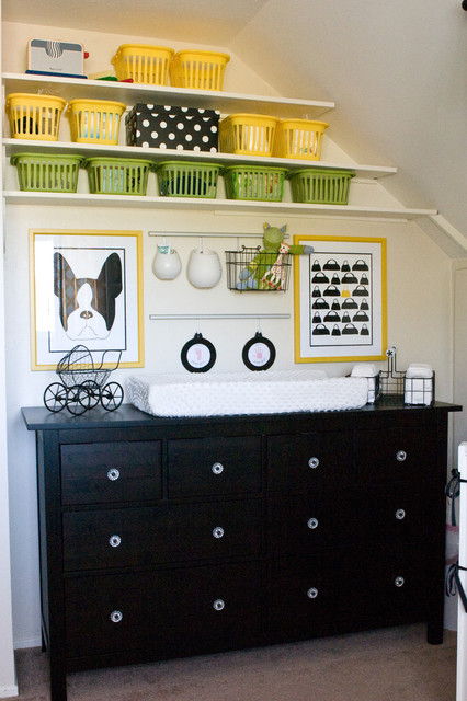 Yellow and Black Nursery contemporary kids