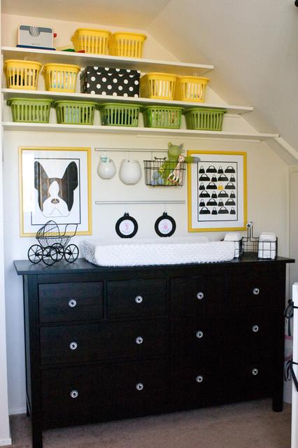 Yellow and Black Nursery contemporary-nursery