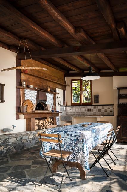 villa in portofino mediterraneo-patio
