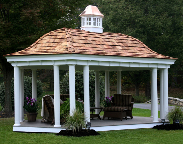 12 X 16 Vinyl Elongated Hexagon Belle Gazebo