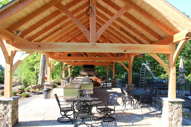 18 X54 Timber Frame Pavilion In Mohnton Pa Traditional