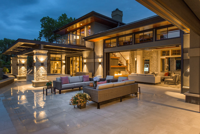2015 Midwest Home Luxury Home #13   Bruce Lenzen Design/Build  Contemporary Patio