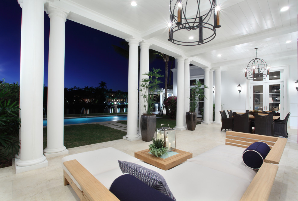 Inspiration for a transitional patio remodel in Miami