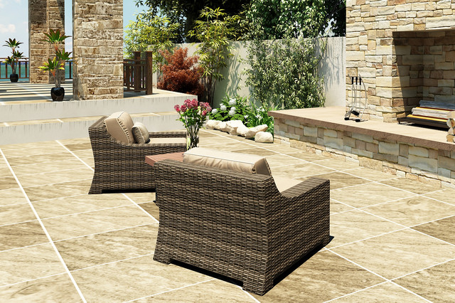 3 Piece Bayside Chat Set by Forever Patio modern-patio