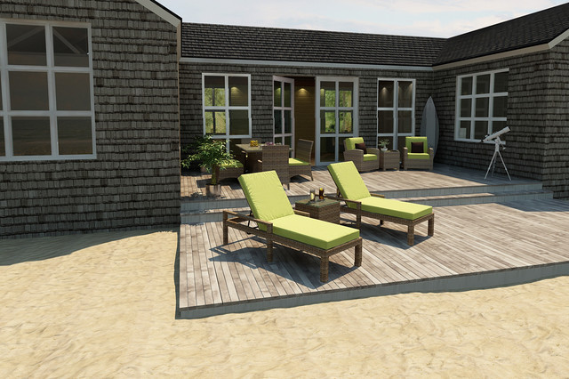 3 Piece Cypress Chaise Lounge Set by Forever Patio contemporary-patio