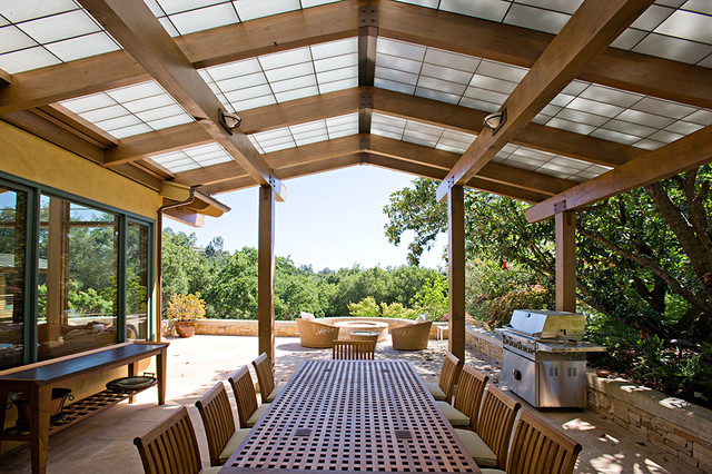 3 portola valley residence contemporary patio - Patio Roof Ideas