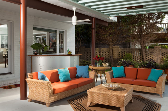 Contemporary Patio by Tongue & Groove