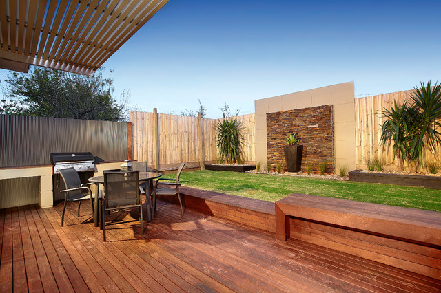 Ordinaire Inspiration For A Contemporary Patio Remodel In Melbourne With Decking
