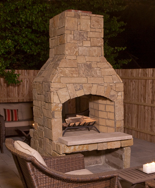 36 quot see thru fireplace on restaurant patio traditional