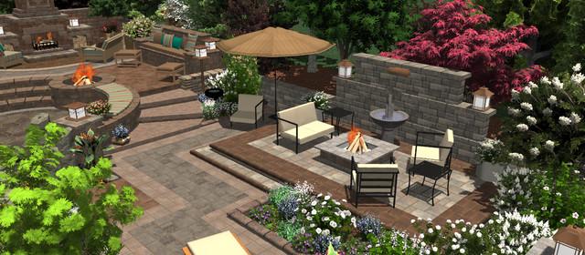 3D-GoPaversDemoGarden-LongView traditional-patio