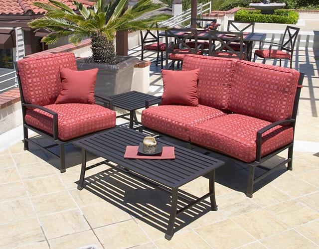 4 Pc La Jolla Aluminum Outdoor Sofa Set By Sunset West