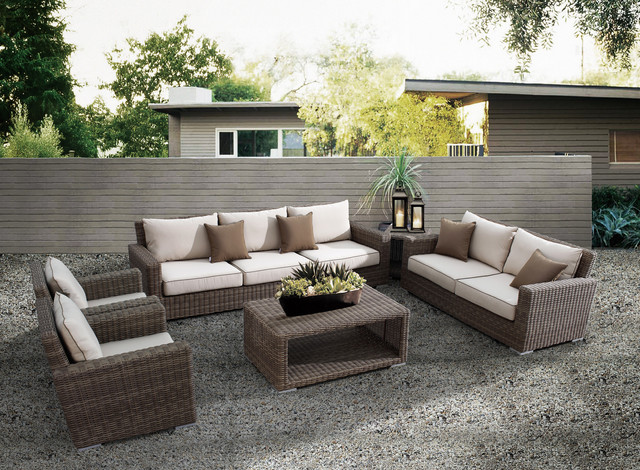 5 Pc Coronado Outdoor Sofa Set by Sunset West Modern Patio san go