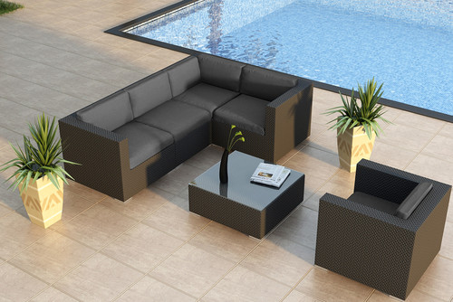 modern-patio Wicker Sectional Sofas