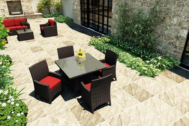 5 Piece Capistrano Square Dining Set by Forever Patio contemporary-patio