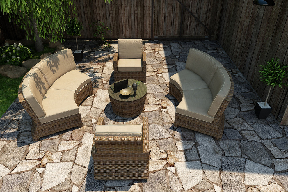 5 Piece Cypress Sectional Set by Forever Patio ... on 5 Piece Sectional Patio Set id=76261