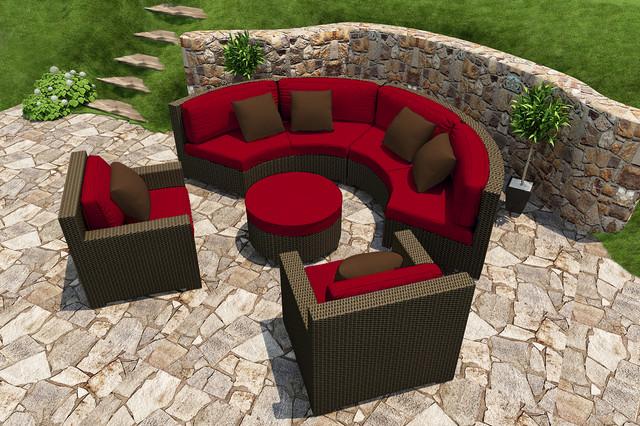 5 Piece Hampton Radius Sectional Set by Forever Patio contemporary-patio