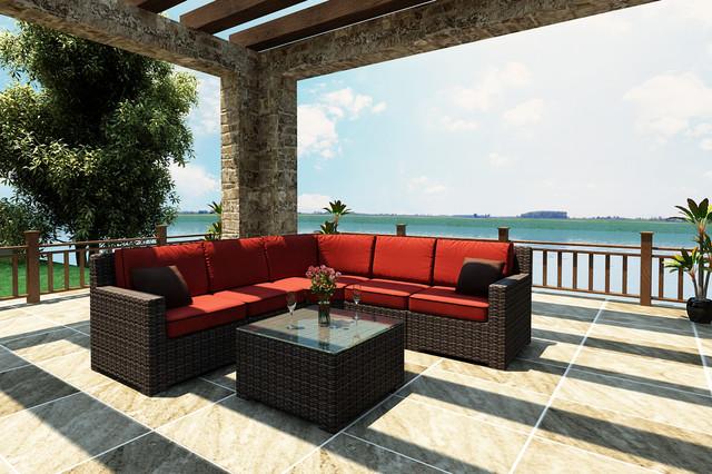 6 Piece Capistrano Sectional Set by Forever Patio contemporary-patio