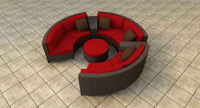 6 Piece Hampton Radius Sectional Set by Forever Patio contemporary-patio
