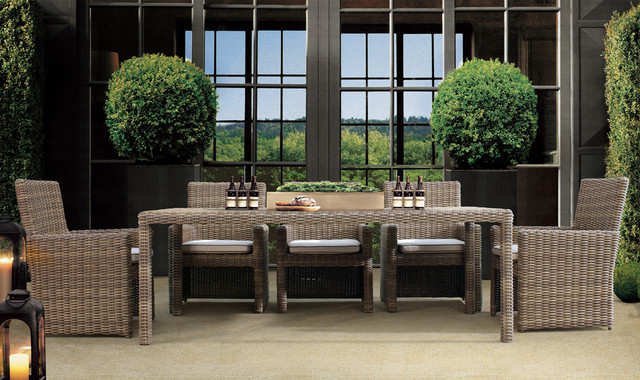 7 Pc. Coronado Outdoor Dining Set by Sunset West contemporary-patio - 7 Pc. Coronado Outdoor Dining Set By Sunset West - Contemporary
