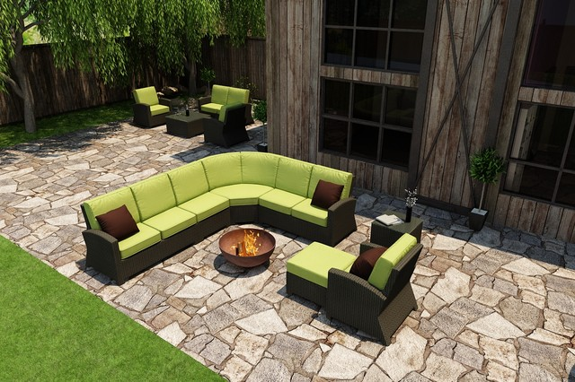 7 Piece Barbados Sectional Set by Forever Patio contemporary-patio