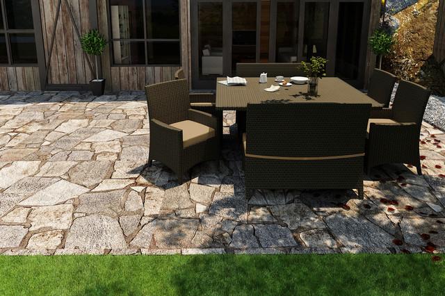 7 Piece Hampton Square Dining Set by Forever Patio contemporary-patio