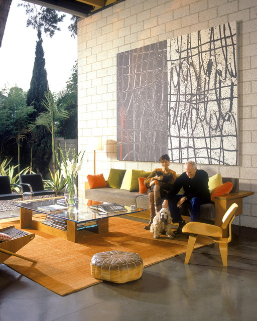 700 palms residence industrial patio los ngeles - Limposante residence contemporaine de ehrlich architects ...