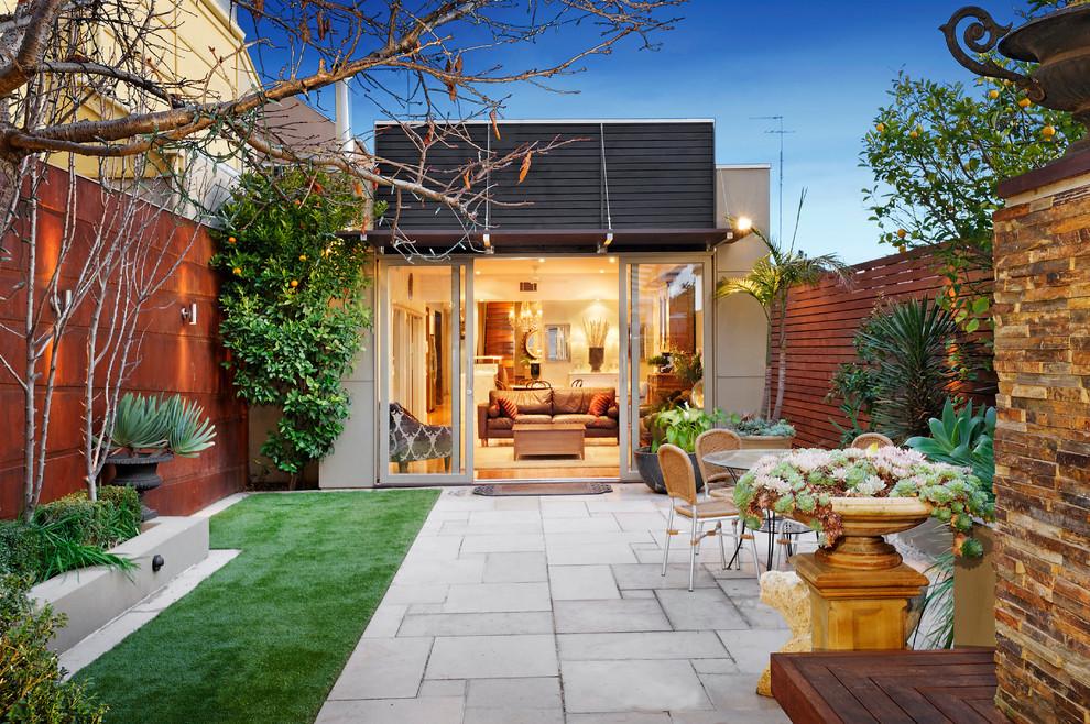Patio - contemporary patio idea in Melbourne with no cover