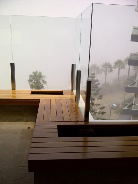 8th floor terrace renovation contemporary-patio
